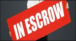 picture of escrow sign