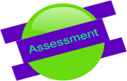 frisbee with word of assessment