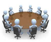 people sitting around a round table