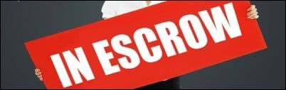 A picture of the Escrow sign