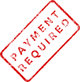 Payment Required stamp