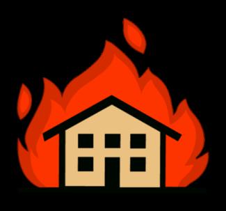 fire around house