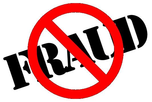 Word fraud with cross line on top