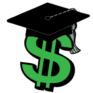 Dollar and a Graduate hat