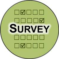 survey forms in a circle