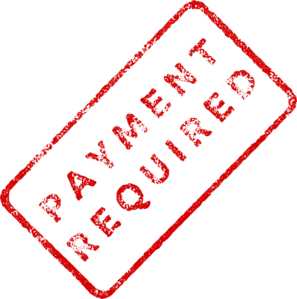 Payment requirement icon