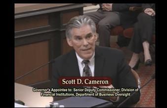 image of Scott D. Cameron on the Senate floor