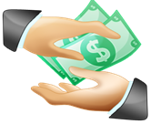 passing money from hand to hand