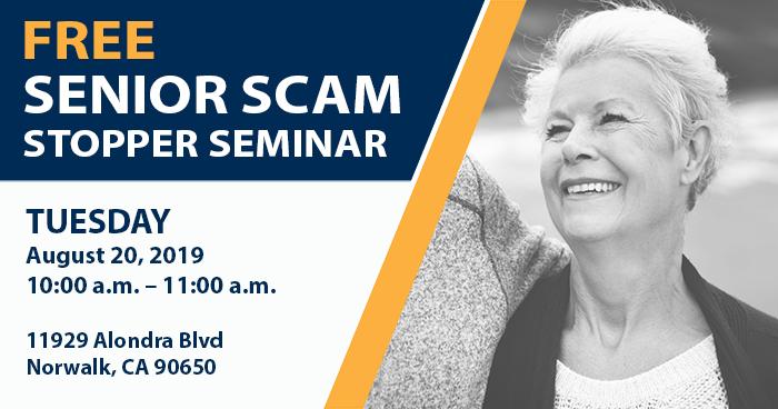 Free Senior Scam Stopper Seminar
