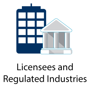 Licensees and regulated industries