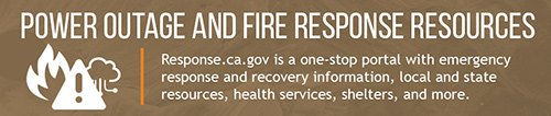 Power outage and fire response resources