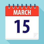 March 15 on a calendar