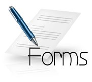 Form with a pen to fill
